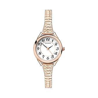 Sekonda 2639 Wit En Rose Gold Dames Expander Horloge