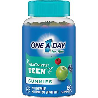 One a day vitacraves teen for him multivitamin, gummies, 60 ea