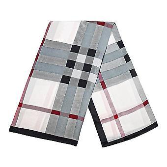 Sjaal met dambordpatroon - Wit, Nr. 22