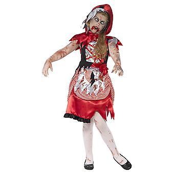 Zombie Miss Hood Costume, Rosso (Medio)