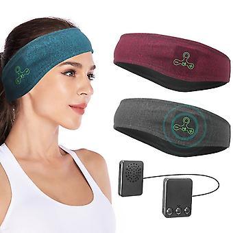 Wireless Bluetooth 5.0 Sport Headband Headset With Music Mic Call Stereo Shading Sleep Headscarf For Running Yoga Gym Head Band