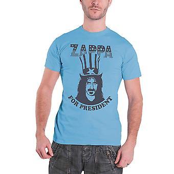 Frank Zappa Mens T Shirt Blue Zappa For President logo design Official