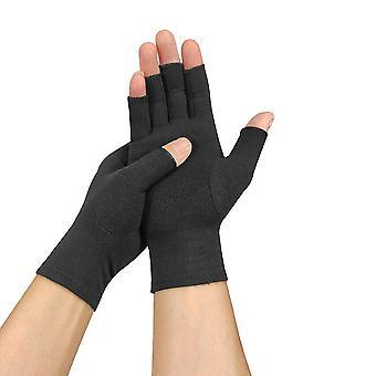 L 1 paar unisex artritis katoenen handschoenen pijnverlichting halve vinger handschoenen lc147