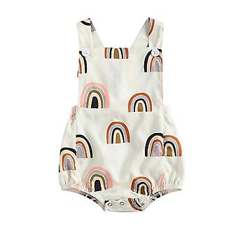 Baby Rompers Newborn Infant Sleeveless Square Neck Romper Jumpsuits