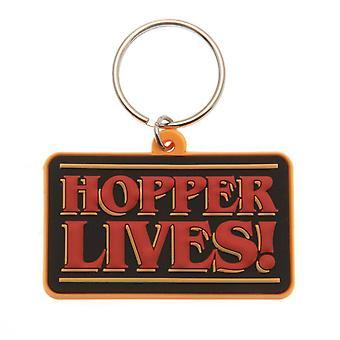 Stranger Things Hopper vit! Porte-clés en PVC