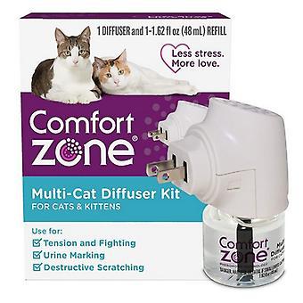 Súprava multi-mačacích difúzorov Comfort Zone pre mačky a mačiatka - 1 počet