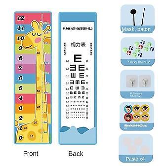 Ein Satz Montessori Vision Test Höhenskala Lernspiel für Kinder