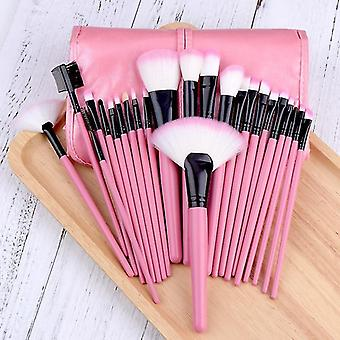 Makeup brushes profession makeup brush set large eye shadow angled brow pink brushes 24pcs|eye shadow applicator