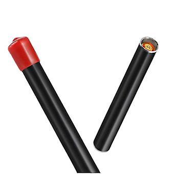 Blasfeuerzeug Mini Elektrische Zigarettenanzünder Rauchenden Feuerzeug Rahmenloses Feuerzeug (Schwarz)