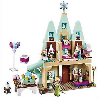 Age 3+, 360 pieces disney frozen princess elsa and anna building model blocks set for children(6)