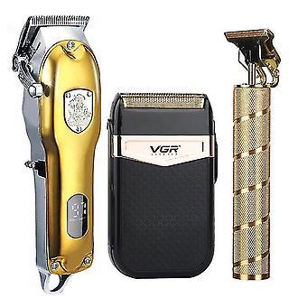 2021 Zestaw do strzyżenia włosów elektryczny trymer do włosów bezprzewodowy trymer do golenia 0mm męski fryzjer strzyżenie włosów