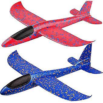 Foam Airplane 48cm Hand Throwing Airplane Model Child Glider Luminous Toy