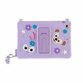 Cute Silicone Protective Case For Ipad With Stand Pendant Stella Rabbit Purple