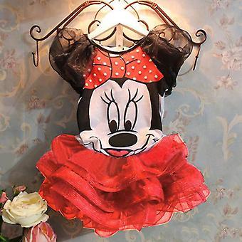 Gyerekek Baby Girls Minnie Mouse Top Tutu szoknya Set Születésnapi Party Outfits