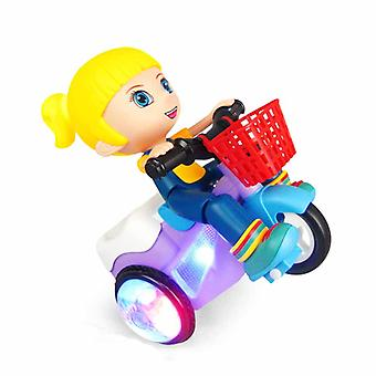 Led Light & Music Electronic Tricycle Stunt Car Kids Gift Party Favors