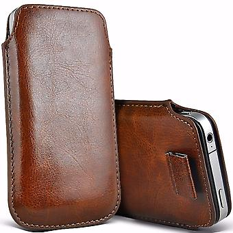 i-Tronixs Premium Stylish Faux Leather Pull Tab Pouch Skin Case Cover For InnJoo Halo Plus (5.5