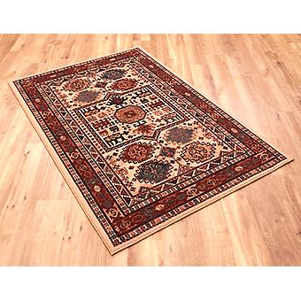 Kashqai 4306-100 A mix of reds, yellows, green and beige Rectangle Rugs Traditional Rugs