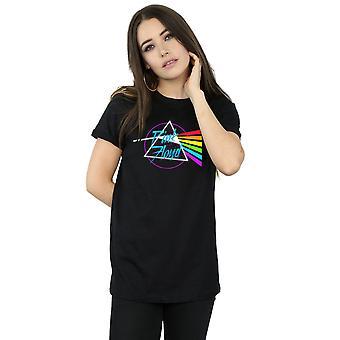 Pink Floyd Women's Neon Darkside Boyfriend Fit T-Shirt