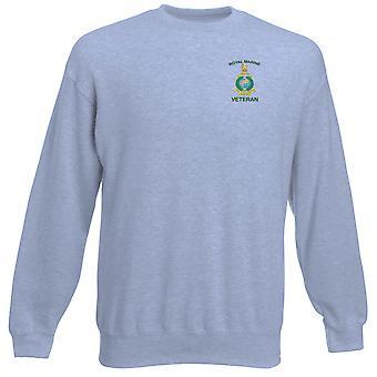 Kuninkaallisen merijalkaväen veteraani brodeerattu Logo - virallinen raskaansarjan pusero