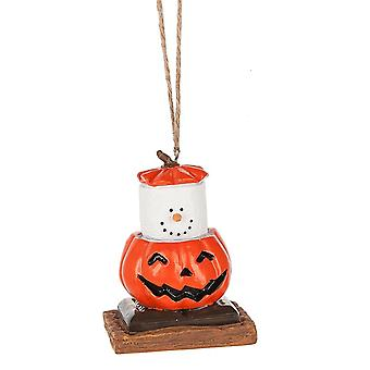 Smores Dressed in a Jack O Lantern Costume Christmas Holiday Ornament