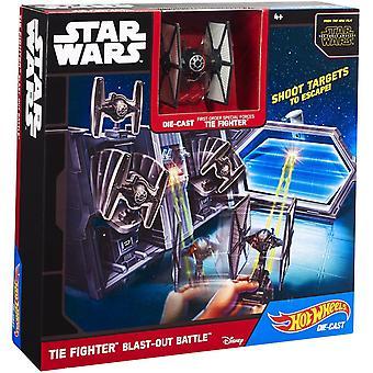 Hot Wheels Star Wars TIE Fighter Blast-Out battaglia Set per il gioco