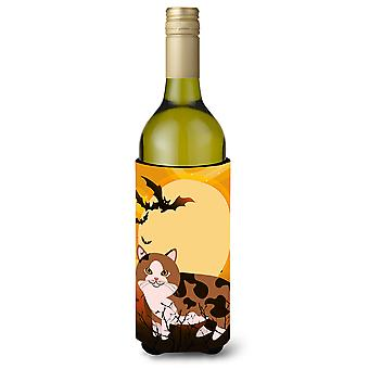 Halloween Manx Cat Wine Bottle Beverge Insulator Hugger