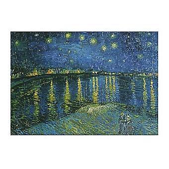 Stjärnklar natt över Rhône c1888 affisch Skriv ut av Vincent Van Gogh (20 x 16)