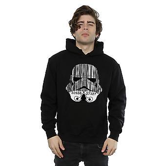 Star Wars Men's Stormtrooper Barcode Helmet Hoodie