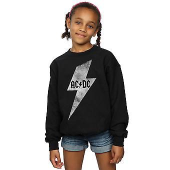 AC/DC Mädchen Lightning Bolt Sweatshirt