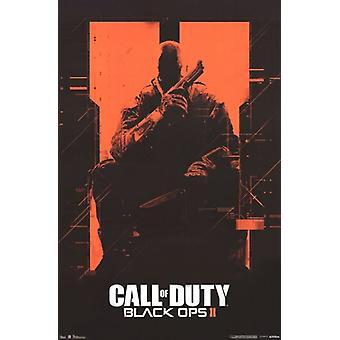 Call of Duty Black Ops II - impressão de cartaz laranja