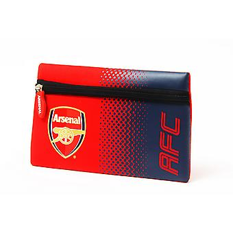Arsenal FC Official Fade Football Crest Design Flat Pencil Case