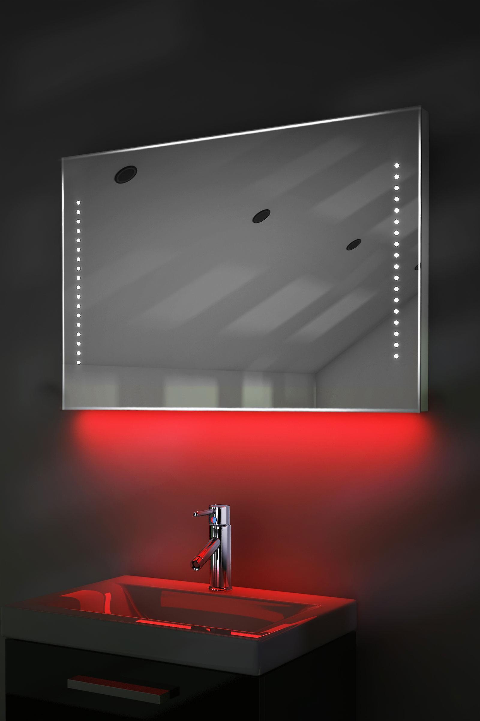 Auto Colour Change Rgb Ultra-Slim Mirror With Demister & Sensor K61Rgb
