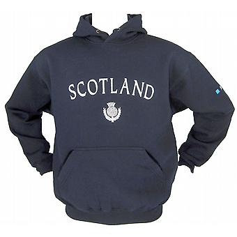 Scotland Thistle Fleece Lined Navy Rugby Hoody Sizes XS - XXL