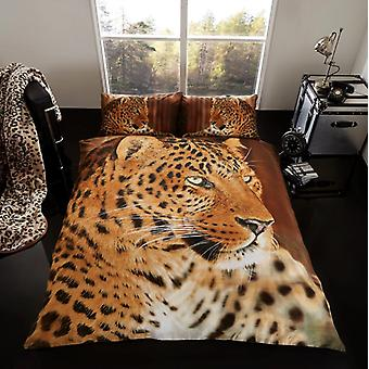 3D Animal Leopard Premium Duvet Cover Bedding Set Single Double King