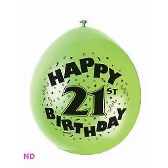 """Ballonnen gelukkig 21e verjaardag 9"""" Latex (10)"""