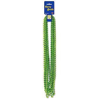 Métalliques légères perles partis verts