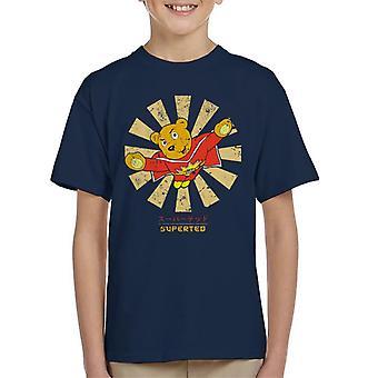 SuperTed Retro japanilainen Lasten t-paita