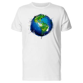 Grungry Planet Earth Tee Men's -Image by Shutterstock