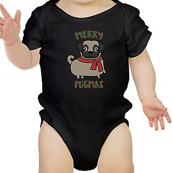 Frohe Pugmas Mops Baby Bodysuit Funny Baby Kleidung Weihnachtsgeschenke