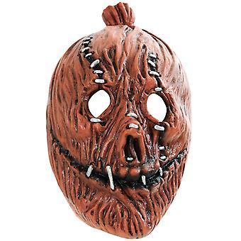 Korku Maskesi Kabak Ürpertici Cadılar Bayramı Üç Çeyrek Maske