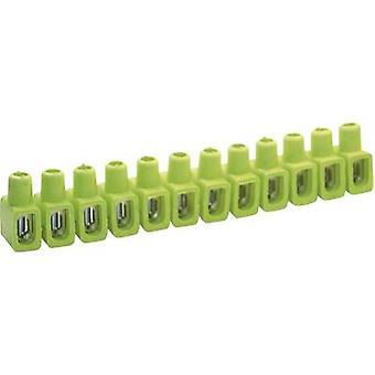 Kaiser 610/gegr Screw terminal flexible: 4-10 mm² rigid: 4-10 mm² Number of pins: 12 1 pc(s) Green, Yellow