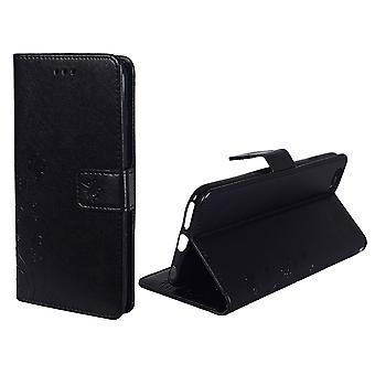 携帯電話アップルの iPhone 6 のための保護カバー花/6 s 黒