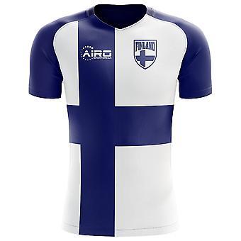 2018-2019 فنلندا العلم مفهوم كرة القدم قميص
