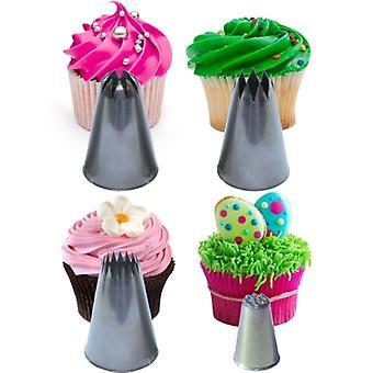Cupcake stjärnor & virvlar munstycke ställa Extra stora Plus delar tips för isbildning dekoration & Sugarcraft