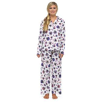 Ladies Tom Franks Sheep Print Traditional Button Through Long Pyjama Sleepwear