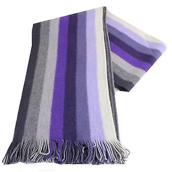 Bassin og brun Thompson stripete ull skjerf - lilla/grå/lilla
