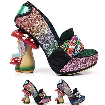 Womens Irregular Choice Hazel Corntree Fairy Toad Stool Court Shoes - Blue - 4