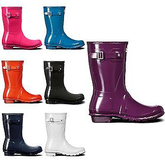Womens Hunter Original Short Gloss Rubber Waterproof Snow Wellington Boot