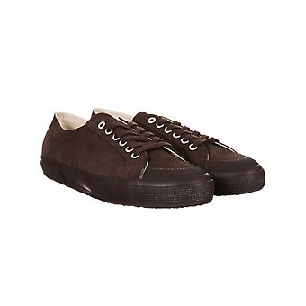 Superga 2390 Suede Cotu Classic Trainers - Full Dark Chocolate