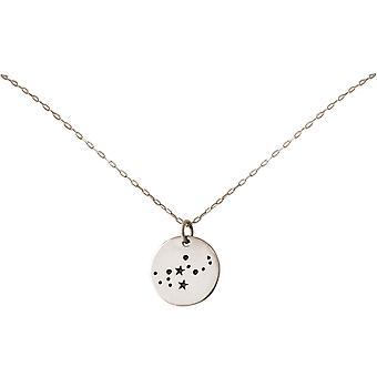 Konstellation halskæde horoskop Virgo Jomfruen jomfru 925 sølv, forgyldt, Rose